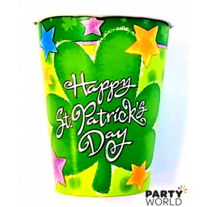 Happy St Patrick's Day Paper Cups (8)