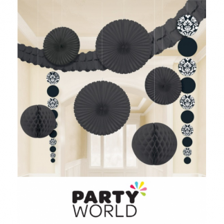 Damask Black Decorating Kit