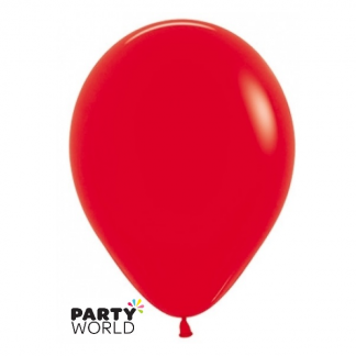 Sempertex 5inch (12cm) Fashion Red Round Mini Balloons (10)
