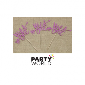 Wild One Pink Glitter Cake Topper