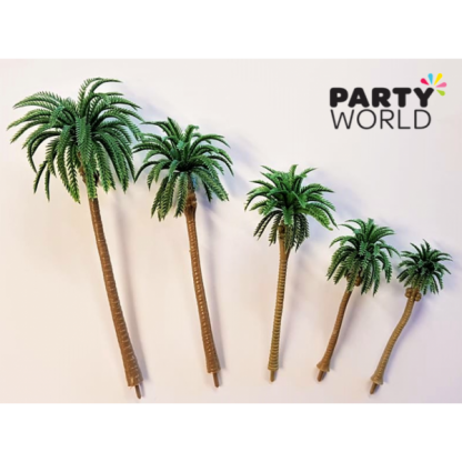 Mini Plastic Palm Trees (5)
