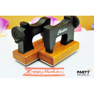 Sewing Machine Happy Birthday Stamp