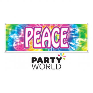 Peace Sign Multicoloured Large Banner