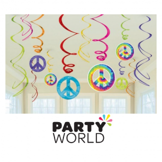 Feelin Groovy Peace Sign Swirl Decorations (12)