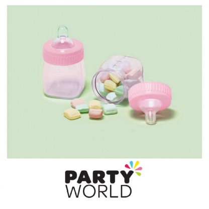 Pink Baby Shower Fillable Baby Bottles (6)