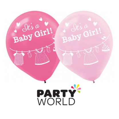 It's A Baby Girl Latex Balloons (15)