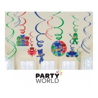 P J Masks Party Swirl Decorations