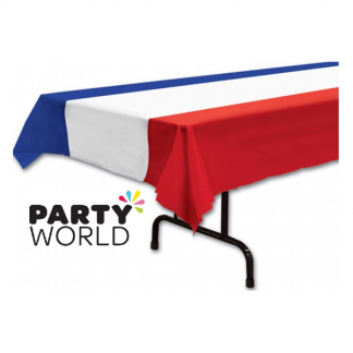 French Flag Plastic Tablecover