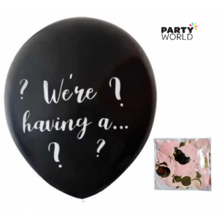 Gender Reveal Confetti Giant Latex Balloon (girl)