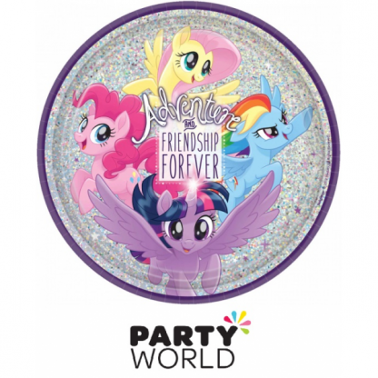 My Little Pony Friendship Adventures 23cm Round Prismatic Plates (8)