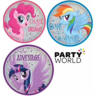 My Little Pony Friendship Adventures 17cm Round Assorted Prismatic Plates (8)