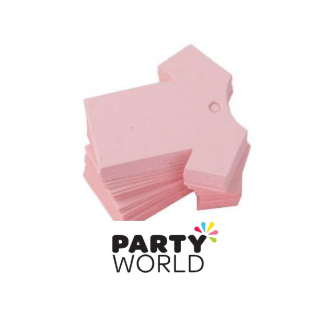 Baby Shower Pink Paper Game Tags (100)