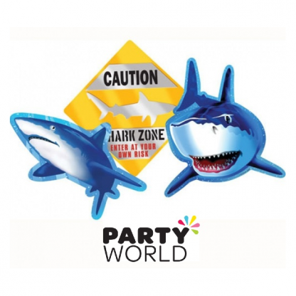 Shark Splash Party Assorted Cutout Decorations