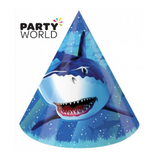 Shark Splash Party Paper Hats (8)