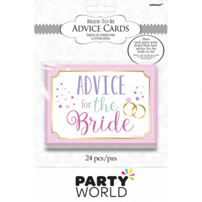Bridal Shower - Advice For The Bride Cards
