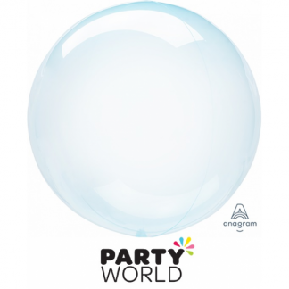 Crystal Clearz Blue Round Balloon
