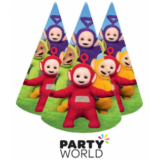 Teletubbies Paper Party Hats (8)
