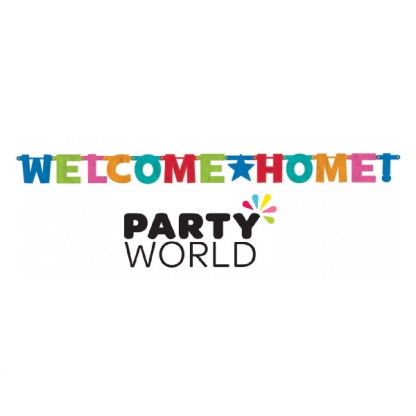 Welcome Home Foil Letter Banner
