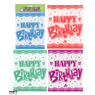 Assorted Happy Birthday Loot Bags (8)