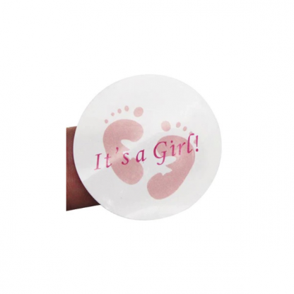 Its A Girl Baby Shower Mini Stickers (100)