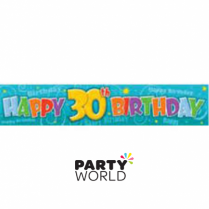Happy 30th Birthday Giant Paper Banner 32 x 150cm