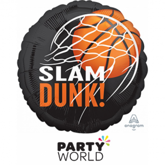 Basketball Fan Slam Dunk Foil Balloon