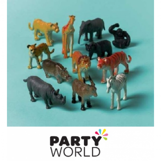 Jungle Animal Plastic Figures (12)