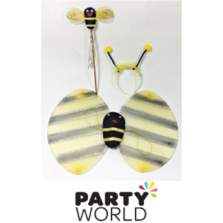 Bumble Bee Headband, Wings And Wand