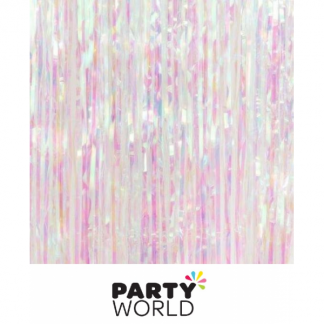 Foil Curtain Backdrop Iridescent