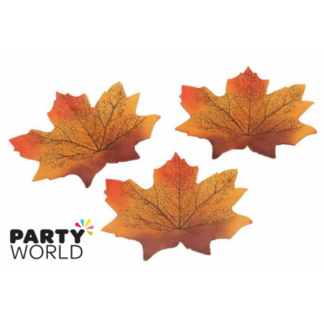Artificial Silk Autumn Leaves - Orange (50)