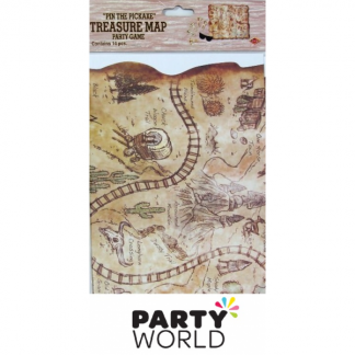 Western Treasure Map Blindfold Party Game