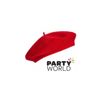 French Style Beret Hat - Red