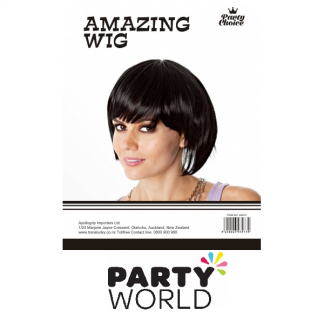 Black Short Bob Ladies Wig
