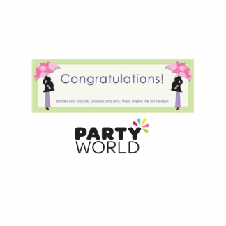 Modern Mom Congratulations Giant Banner
