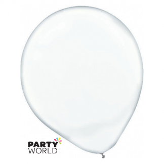 Clear 30cm Transparent Latex Balloons (15)