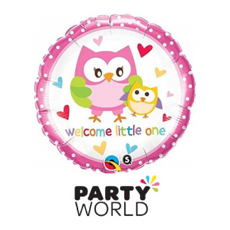Welcome Little One Owls New Baby Foil Balloon