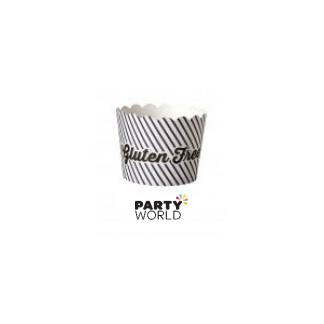 "Black & White ""Gluten Free"" Baking Cups (25)"