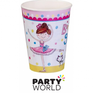 Ballet Party Birthday Girl Paper Cups (8)