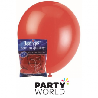 Decorator Bright Red Latex Balloons (25)