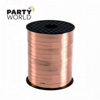 Metallic Rose Gold Curling Ribbon (228.6m)