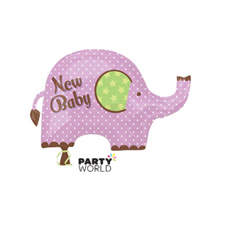 New Baby Girl Foil Balloon Elephant Shape