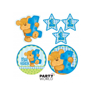 Teddy Bear 1st Birthday Large Cutouts (6)