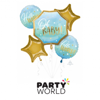 Oh Baby Boy Blue Foil Balloon Bouquet