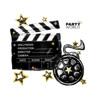 Hollywood Clapboard Foil Balloon 74 x 76 cm
