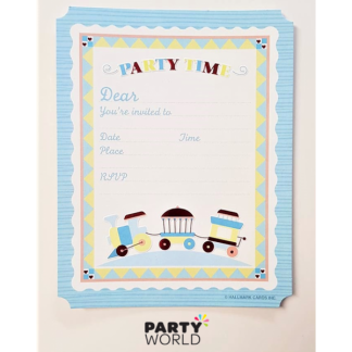 Train Party Invitations (20)