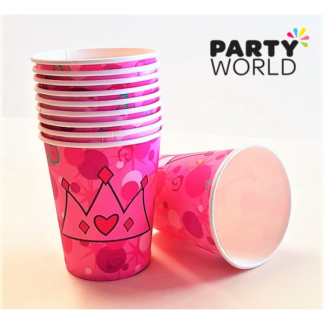 Princess Crown Party Paper Cups (10)