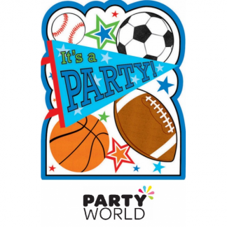 Sports Party Postcard Invitations (8)