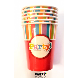 Red Pattern Party Cups (6pk)
