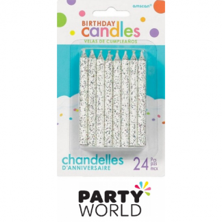 Glitter Birthday Cake Candles (24)