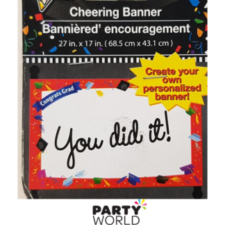 Graduation Banner Red - Create your own (68 x 43cm)